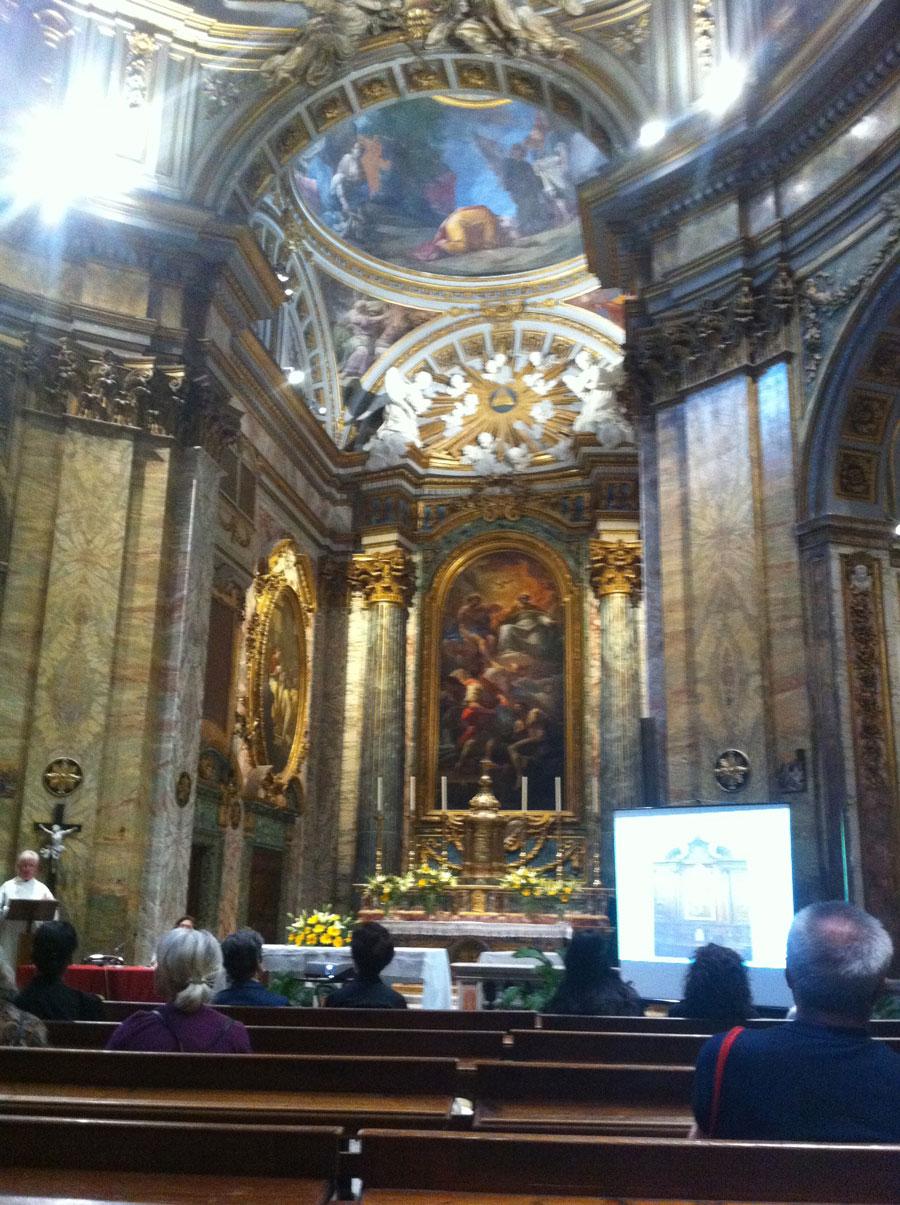 Chiesa – illuminazione architetturale cappella centrale