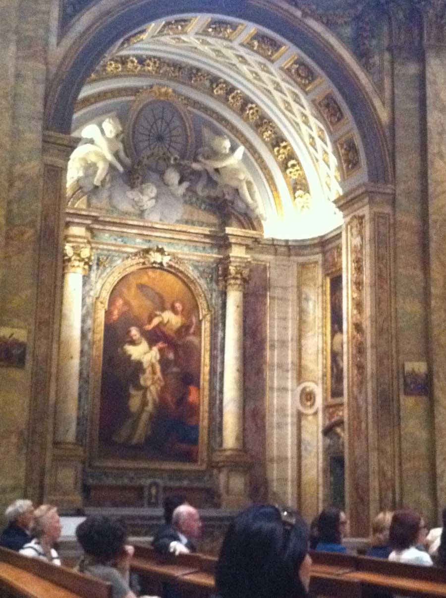 Chiesa – illuminazione architetturale dipinto ad olio