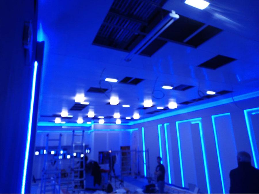 Sala blu Rai – illuminazione sala conferenze